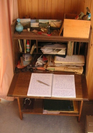 photo of old desk