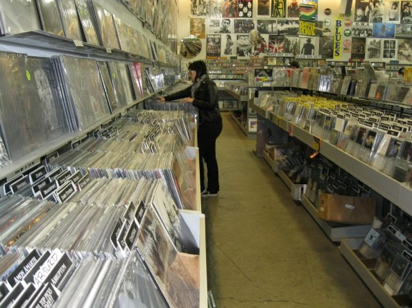 Photo of record shop