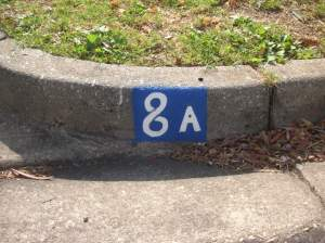 Street number on gutter