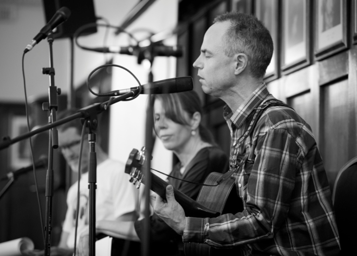 Stephen Andrew (foreground), Zoe Krupka, Vin Maskell.